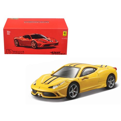 Ferrari 458 Speciale Yellow Signature Series 1/43 Diecast Model Car by Bburago