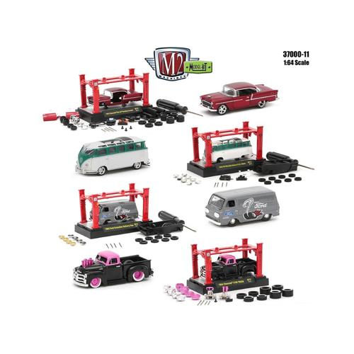 Model Kit 4 Pieces Set Release 11 1/64 Diecast Model Cars by M2 Machines