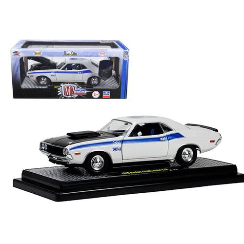 1970 Dodge Challenger T/A 340 Six Pack Pearl White 75th Mopar Anniversary 1/24 Diecast Model Car by M2 Machines