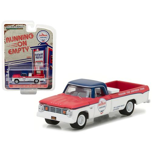 "1965 Dodge D-100 Pickup Truck Chevron Long Bed with Tool Box ""Running on Empty"" Series 3 1/64 Diecast Model Car by Greenlight"
