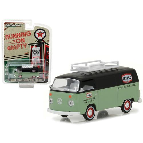 "1979 Volkswagen Type 2 Panel Van Texaco ""Running on Empty"" Series 3 1/64 Diecast Model Car by Greenlight"