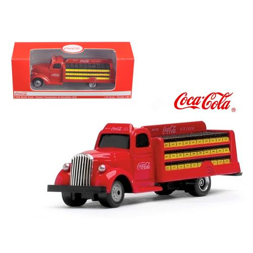 1938 Coca Cola Delivery Bottle Truck 1:87 HO Scale Diecast Model by Motorcity Classics