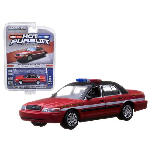 2010 Ford Crown Victoria Chicago Fire Department IN BLISTER 1/64 Diecast Model Car by Greenlight