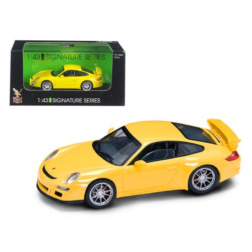 Porsche 911 997 GT3 Yellow Signature Series 1/43 Diecast Model Car by Road Signature