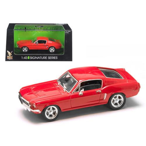 1968 Ford Mustang GT Red 1/43 Diecast Model Car by Road Signature