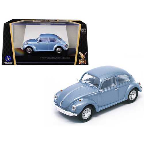 1972 Volkswagen Beetle Metallic Blue 1/43 Diecast Model Car by Road Signature