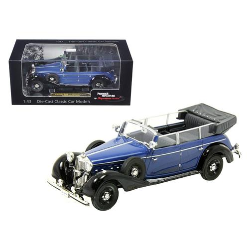 1938 Mercedes 770K Parade Car Blue 1/43 Diecast Car Model by Signature Models