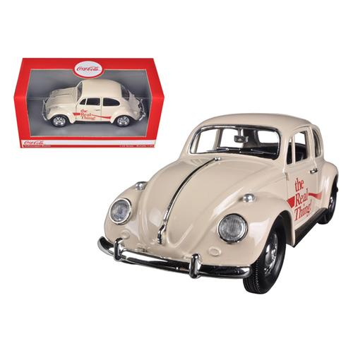 "1966 Volkswagen Beetle ""Coca Cola"" The Real Thing 1/24 Diecast Car Model by Motorcity Classics"