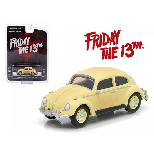 "1963 Volkswagen Beetle ""Friday The 13th Part III"" (1982) Movie Hollywood Series 9 1/64 Diecast Model Car by Greenlight"
