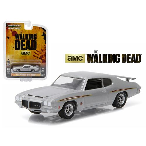 "1971 Pontiac GTO Silver ""The Walking Dead"" TV Series Episode 1.01 (2010-2015) 1/64 Diecast Model Car by Greenlight"