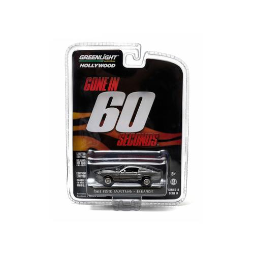 "1967 Ford Mustang Custom ""Eleanor"" Gone in 60 Seconds Movie (2000) 1/64 Diecast Car Model by Greenlight"