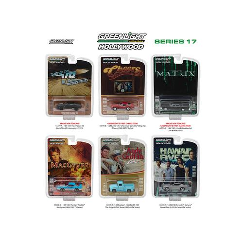 Hollywood Series / Release 17, 6pc Diecast Car Set 1/64 Diecast Model Cars by Greenlight