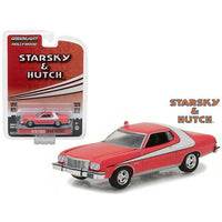 1976 Ford Gran Torino Starsky and Hutch (1975-1979 TV Series) Hollywood Series 18 1/64 Diecast Model Car by Greenlight