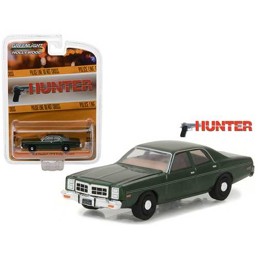 Rick Hunter's 1978 Dodge Monaco Hunter (1984-1991 TV Series) Hollywood Series 18 1/64 Diecast Model Car by Greenlight