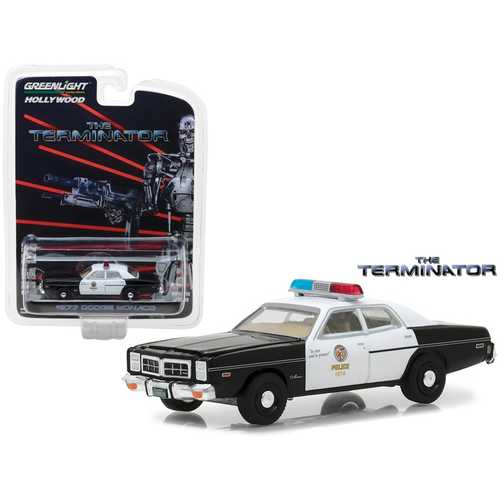 1977 Dodge Monaco The Terminator Movie (1984) Hollywood Series 19 1/64 Diecast Model Car by Greenlight