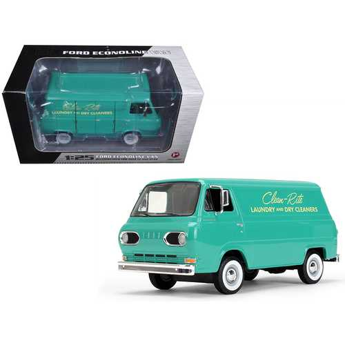 1960's Ford Econoline Van Clean-Rite Laundry and Dry Cleaners 1/25 Diecast Model Car by First Gear