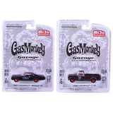 "1967 Chevrolet Impala SS and 1968 Chevrolet C-10 Pickup Truck Black Set of 2 Cars ""Gas Monkey Garage"" (2012-Current TV Series) 1/64 Diecast Model Cars by Greenlight"