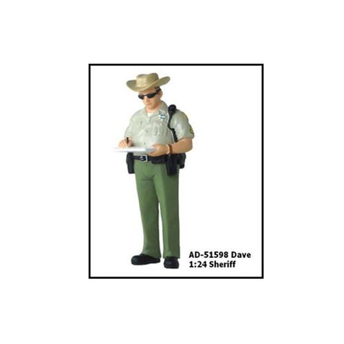 Sheriff Dave Figure For 1:24 Diecast Model Cars by American Diorama