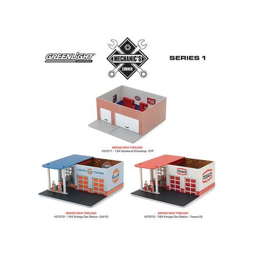 Mechanic's Corner Series 1, 3 pc Set 1/64 by Greenlight