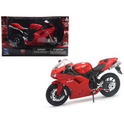 Ducati 1198 Red Motorcycle 1/12 Diecast Model by New Ray