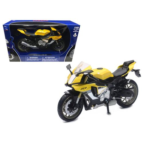 2016 Yamaha YZF-R1 Yellow Motorcycle Model 1/12 by New Ray