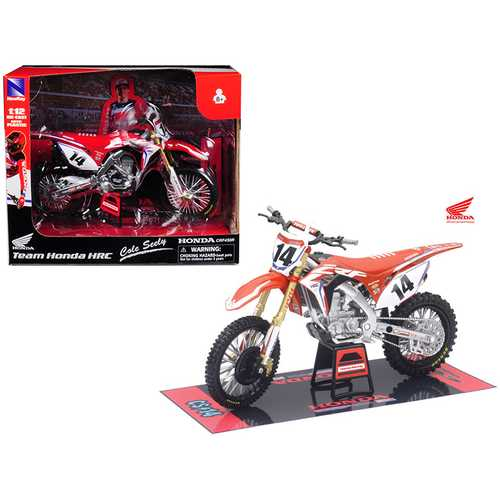 Honda Racing Team CRF450R Cole Seely #14 Motorcycle Model 1/12 by New Ray