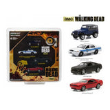 "Hollywood Film Reels Series 4 ""The Walking Dead"" (2010-Current) TV Series 4 Cars Set 1/64 Diecast Model Cars by Greenlight"