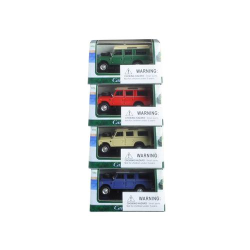 Land Rover 109 Series III 4pc Set Red,Blue,Green,Beige 1/72 Diecast Model Cars by Cararama