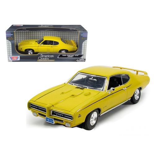1969 Pontiac GTO Judge Yellow 1/18 Diecast Model Car by Motormax