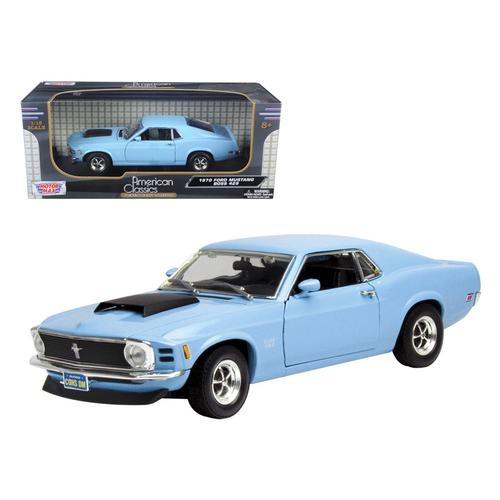 1970 Ford Mustang Boss 429 Light Blue 1/18 Diecast Model Car by Motormax