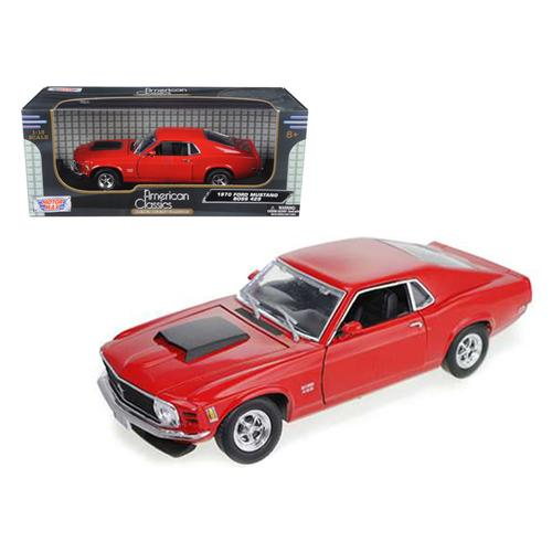 1970 Ford Mustang Boss 429 Red 1/18 Diecast Car Model by Motormax