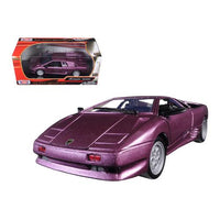 Lamborghini Diablo Purple 1/24 Diecast Model Car by Motormax