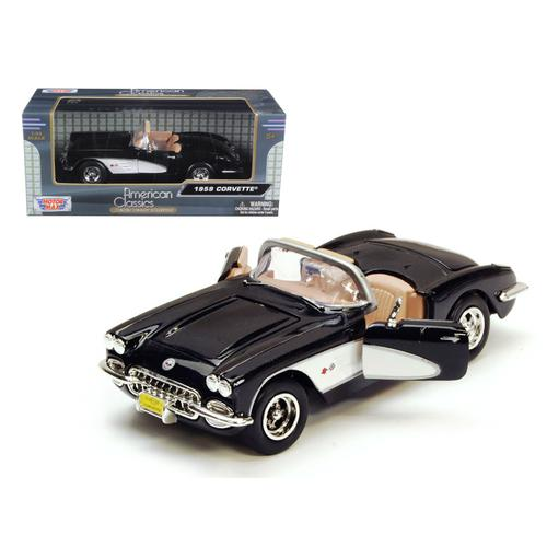 1959 Chevrolet Corvette Black 1/24 Diecast Model Car by Motormax