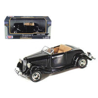 1934 Ford Coupe Convertible Black 1/24 Diecast Model Car by Motormax