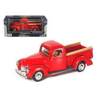 1940 Ford Pickup Red 1/24 Diecast Model Car by Motormax