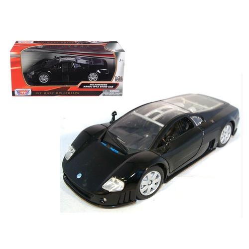 Volkswagen Nardo W12 Show Car Black 1/24 Diecast Model Car by Motormax