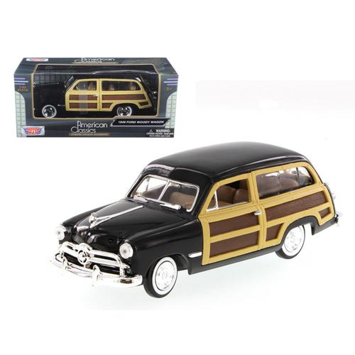 1949 Ford Woody Wagon Black 1/24 Diecast Model Car by Motormax