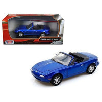Mazda MX-5 Miata Blue 1/24 Diecast Car Model by Motormax