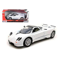 Pagani Zonda C12 White 1/24 Diecast Car Model by Motormax