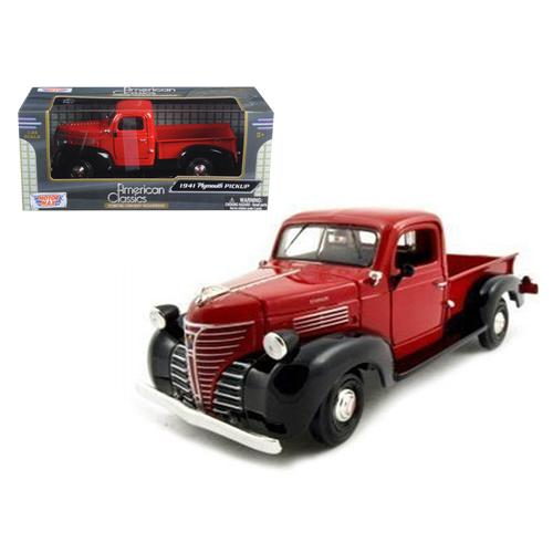 1941 Plymouth Pickup Red 1/24 Diecast Model Car by Motormax