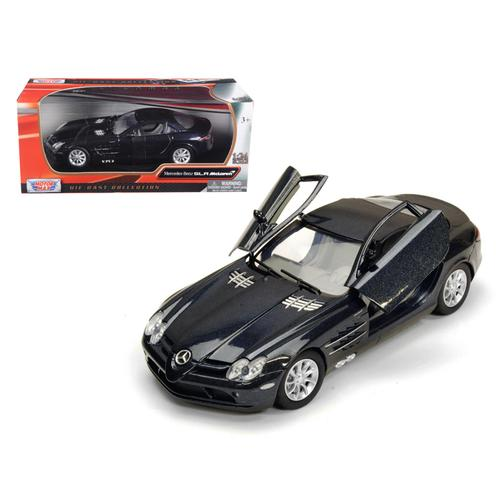 Mercedes Mclaren SLR Metallic Black 1/24 Diecast Model Car by Motormax