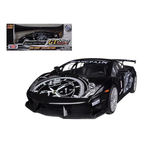 Lamborghini Gallardo LP560 4 Black Super Trofeo GT Racing 1/24 Diecast Car  Model By Motormax