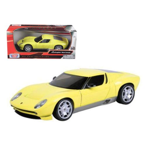 Lamborghini Miura Concept Yellow 1/24 Diecast Car Model by Motormax