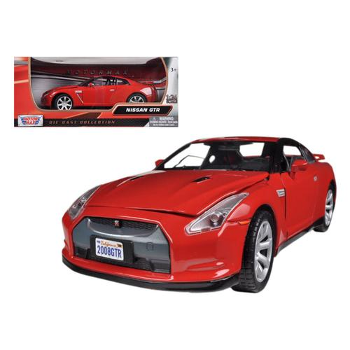 Nissan GT-R R-35 Red 1/24 Diecast Car Model by Motormax