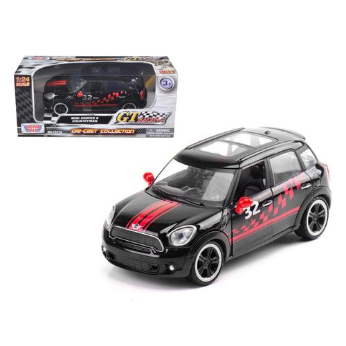 Mini Cooper S Countryman Black Racing 1/24 Diecast Car Model by Motormax