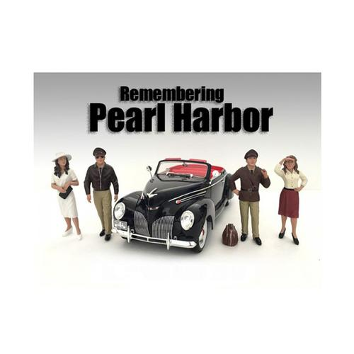 Remembering Pearl Harbor 4 Piece Figure Set For 1:18 Scale Models by American Diorama