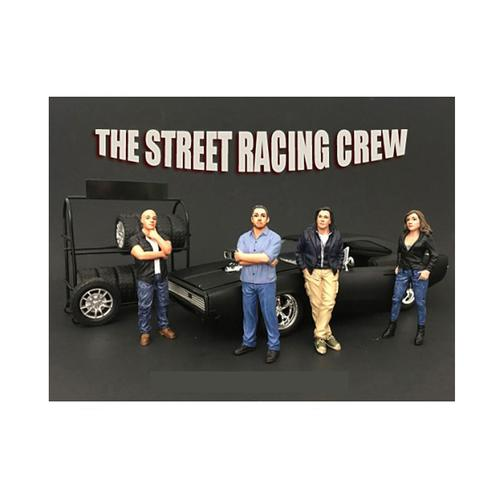 The Street Racing Crew 4 Piece Figure Set For 1:18 Scale Models by American Diorama