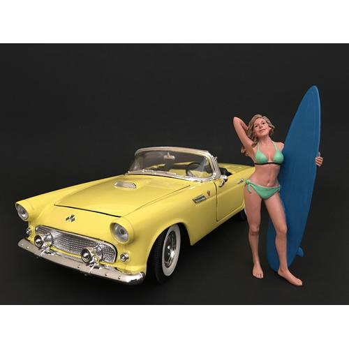 Surfer Paris Figure For 1:18 Scale Models by American Diorama