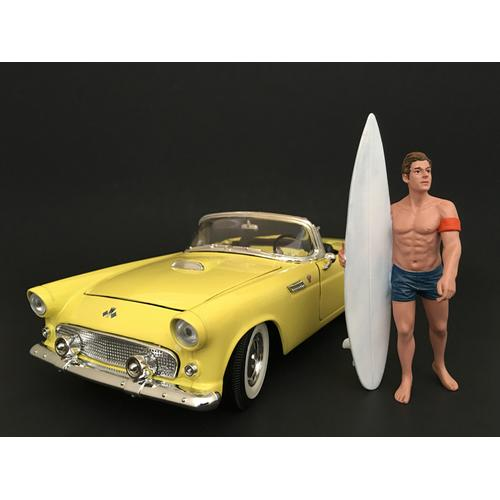 Surfer Greg Figure For 1:18 Scale Models by American Diorama