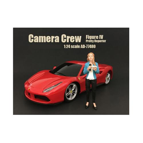 "Camera Crew Figure IV ""Pretty Reporter"" For 1:24 Scale Models by American Diorama"